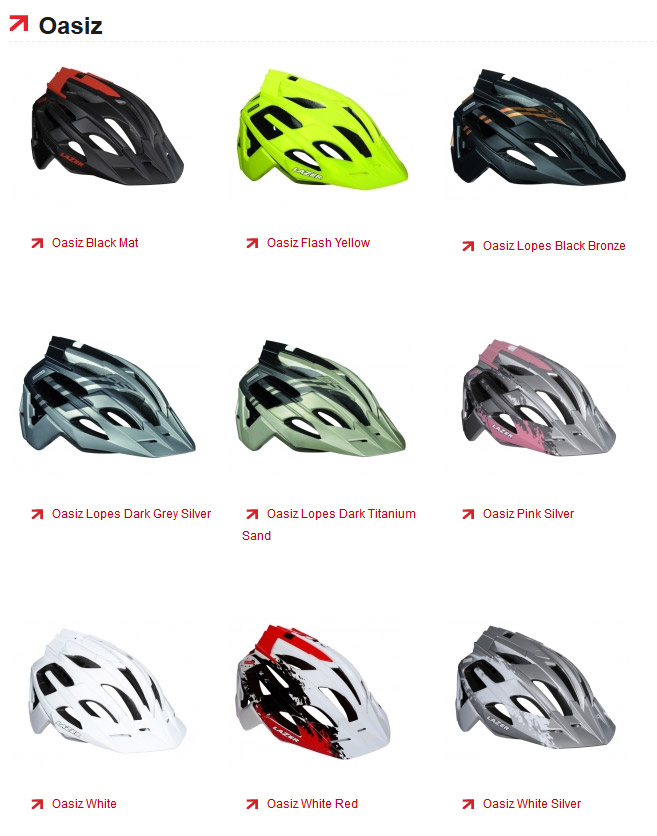 Lazer Oasiz helmet - colors