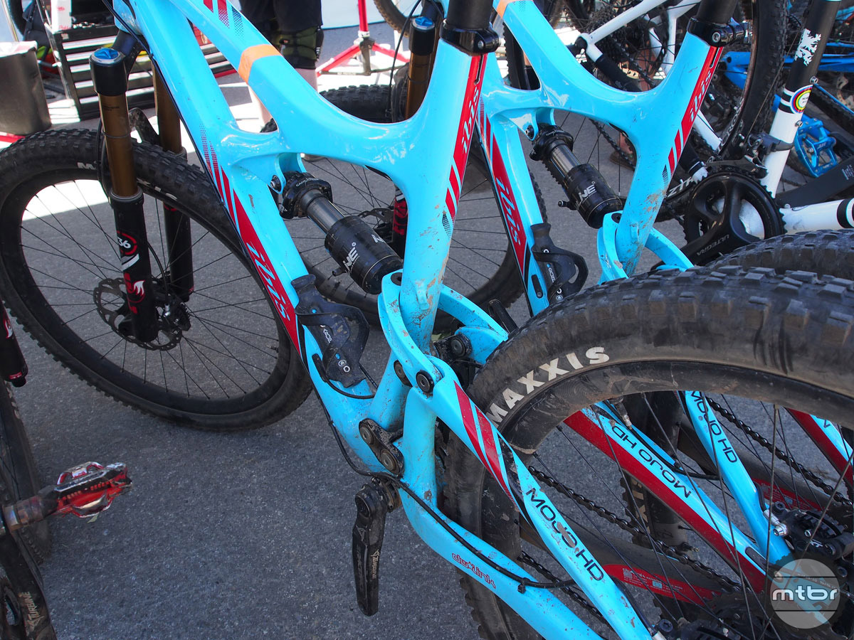 The Ibis HD3 was arguably the most sought after trail bike at Outerbike Whistler. Sadly we didn't get our hands on one.