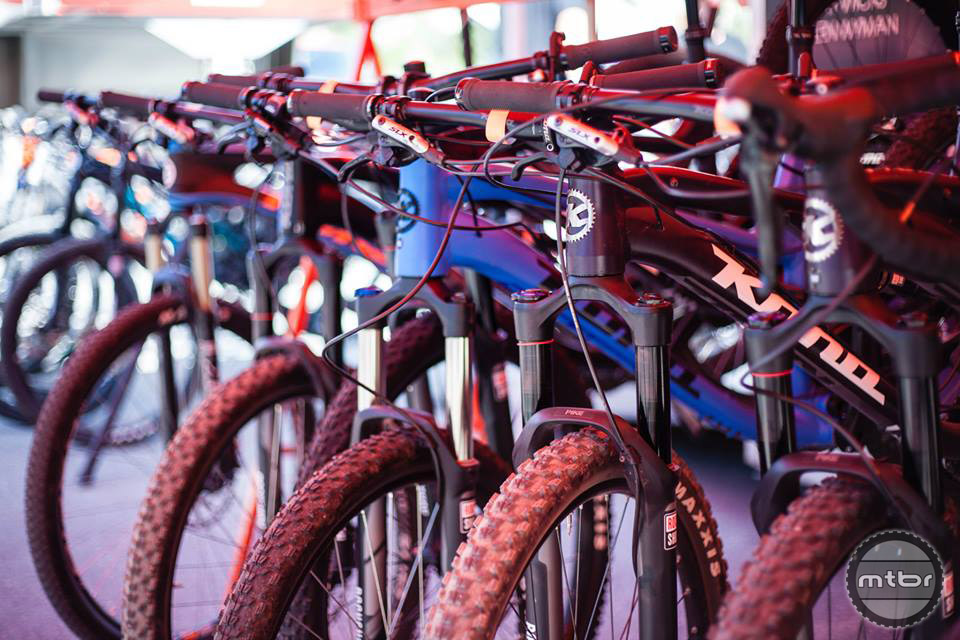 Kona had an extensive fleet of test bikes on hand. Photo by Norma Ibarra