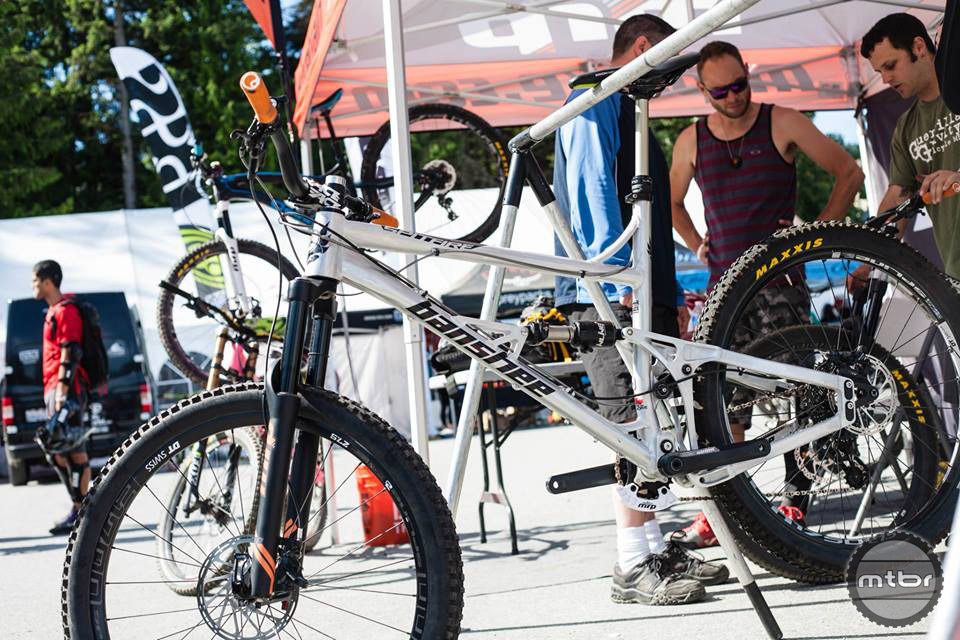 MRP also had a stock of Banshee Spitfire bikes to loan out. Photo by Norma Ibarra
