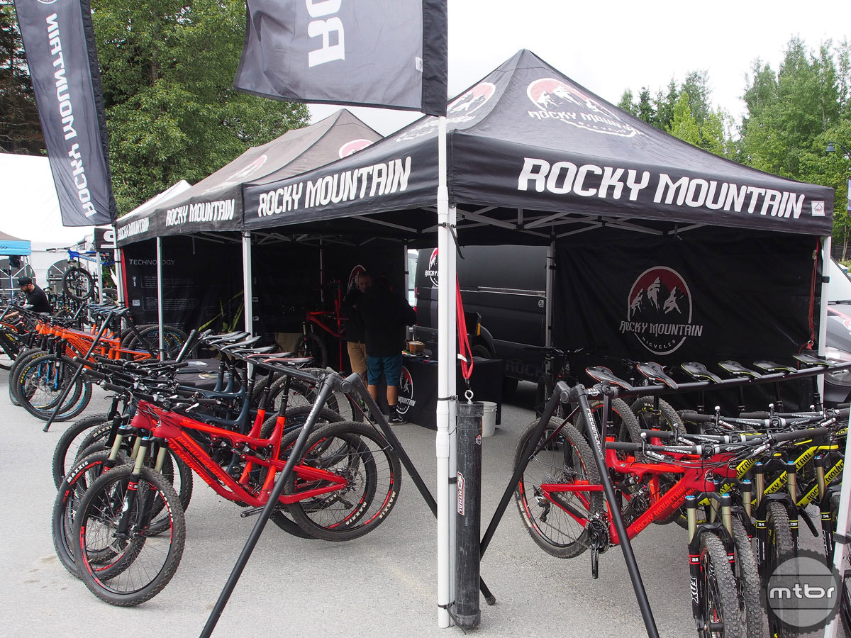 With its world HQ in nearby Vancouver, B.C., Rocky Mountain was able to bring in a wide array of bikes.
