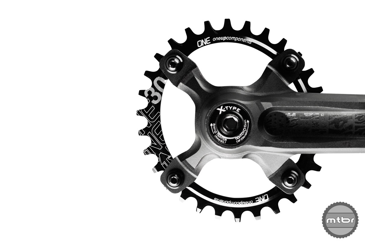 Have older 104BCD cranks and still want the benefits of a narrow/wide oval chainring? OneUp's new 30T might be for you.