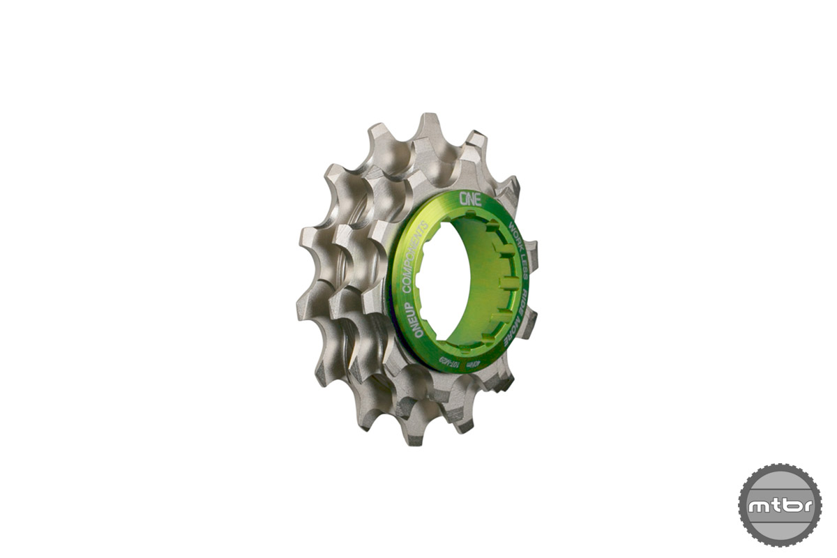 The new Shark 10-12t cluster and OneUp mini-driver adds 10% of range on an 11-speed Shimano mountain cassette.