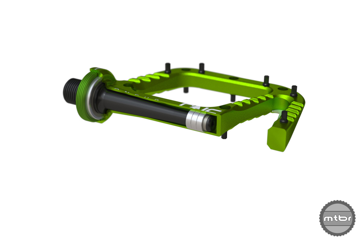 OneUp Components Alu Flat Pedal Section Green