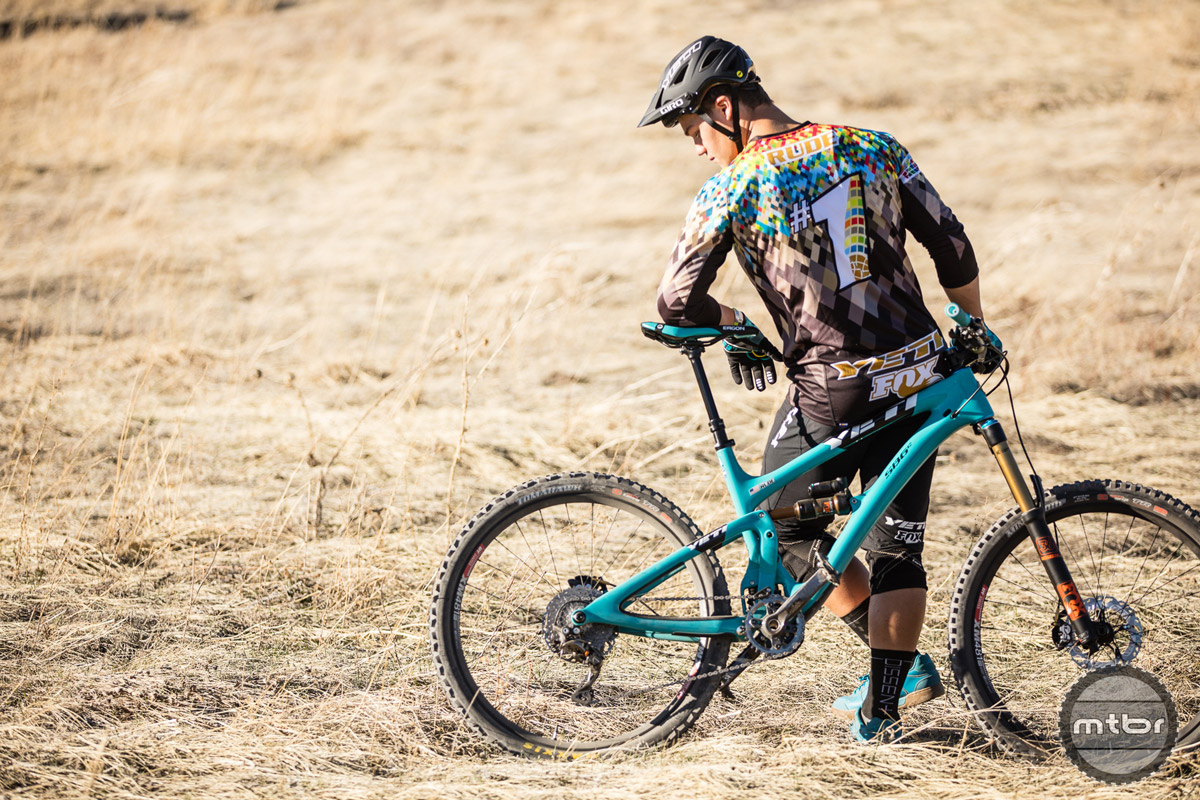 Richie Rude has already won two EWS races this year using the new OneUp Bash.
