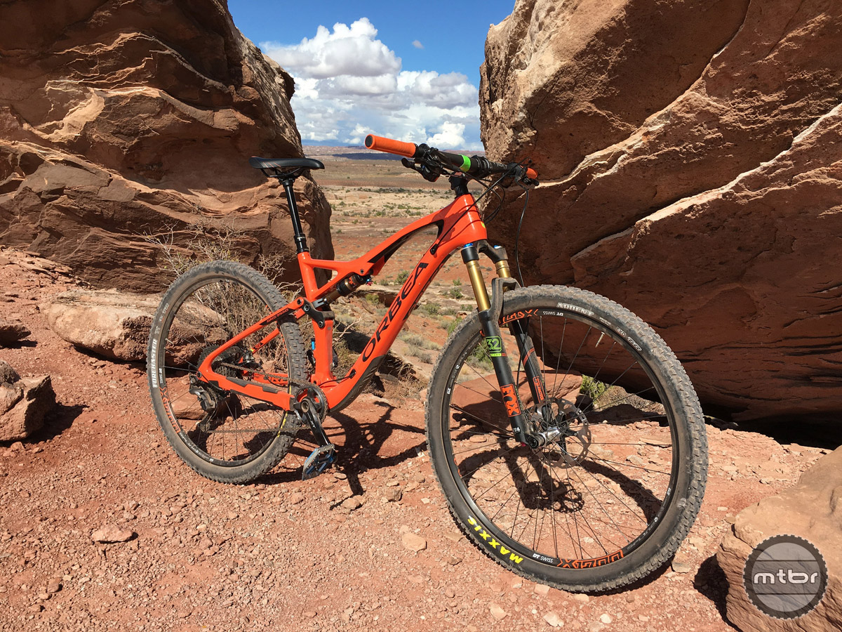 This bike's turn in was not sluggish at all and it loved to carve on faster more twisty trails.