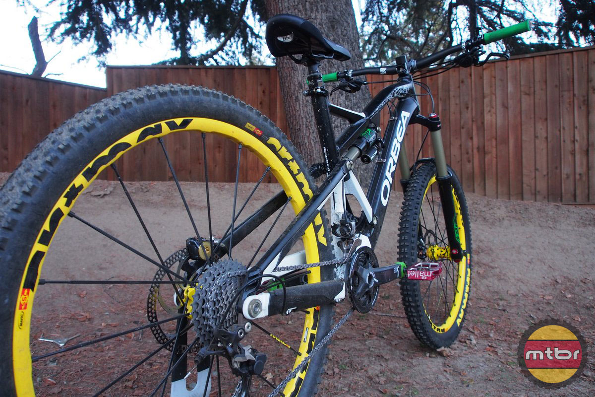 Orbea Rallon with Mavic Crossmax Enduro Wheels