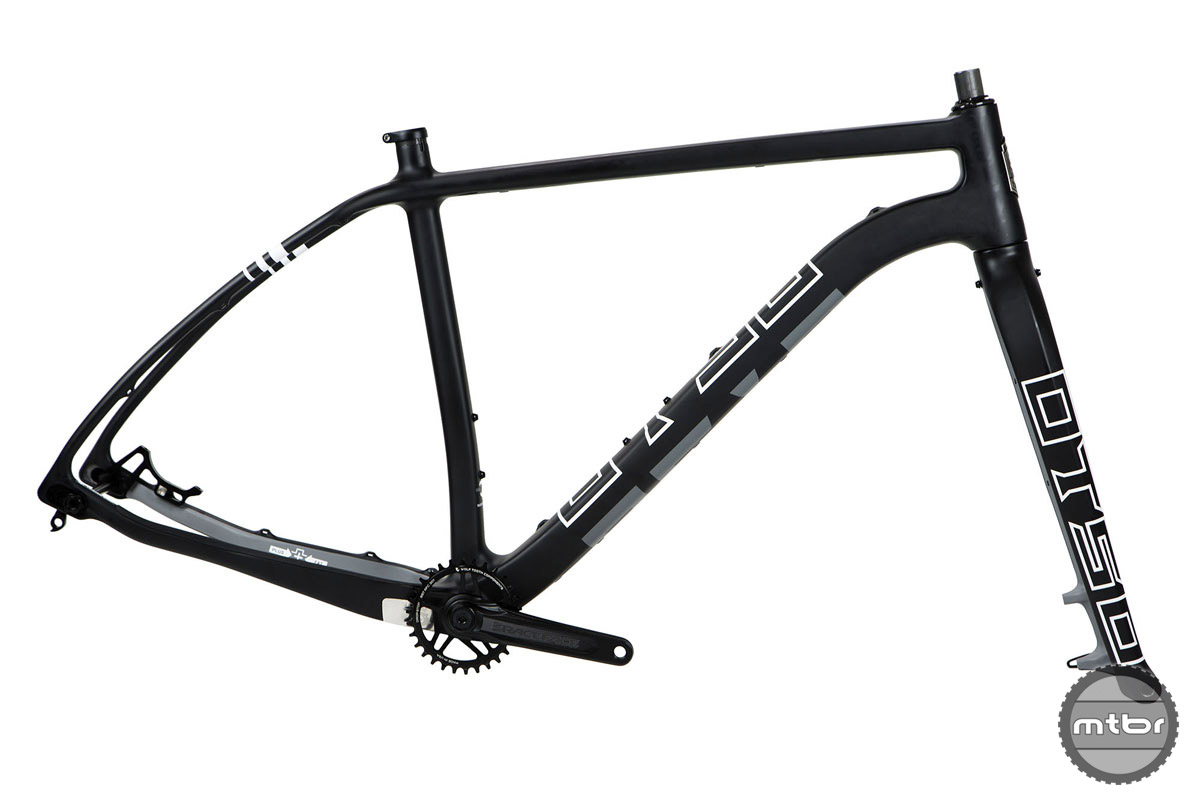 Frankset (crankset included with frameset since 83mm BB cranksets are not yet widely available) is $2299 and includes frame, custom carbon fork, Race Face Cinch Aeffect crankset, Wolf Tooth CAMO chainring, headset, and seatpost collar.