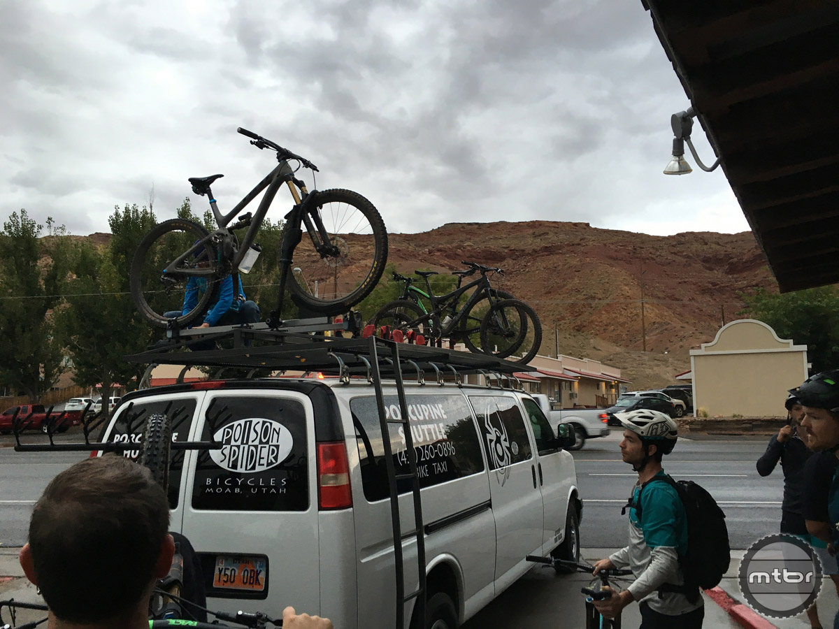 Shuttle time in Moab.