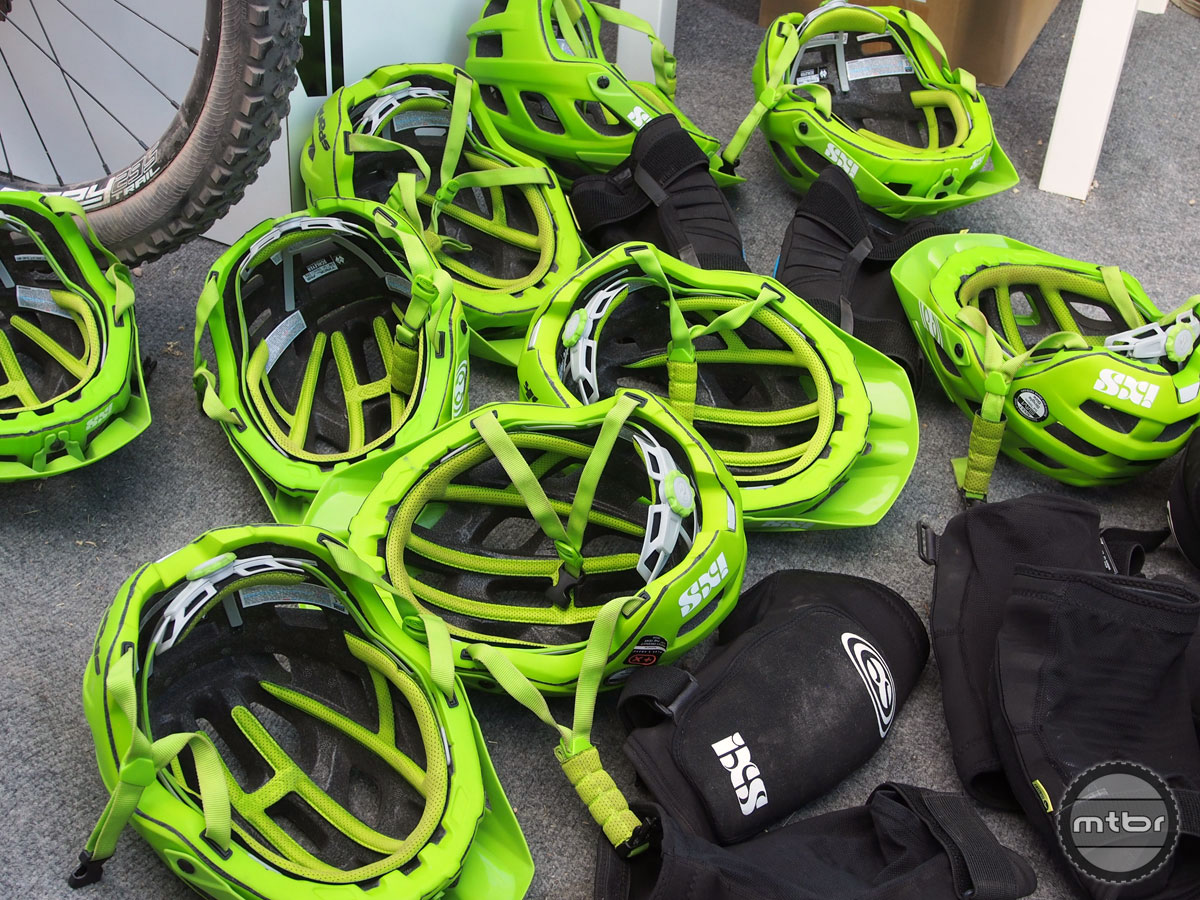 Besides bikes you could demo all manner of gear, including pads and helmets from IXS.