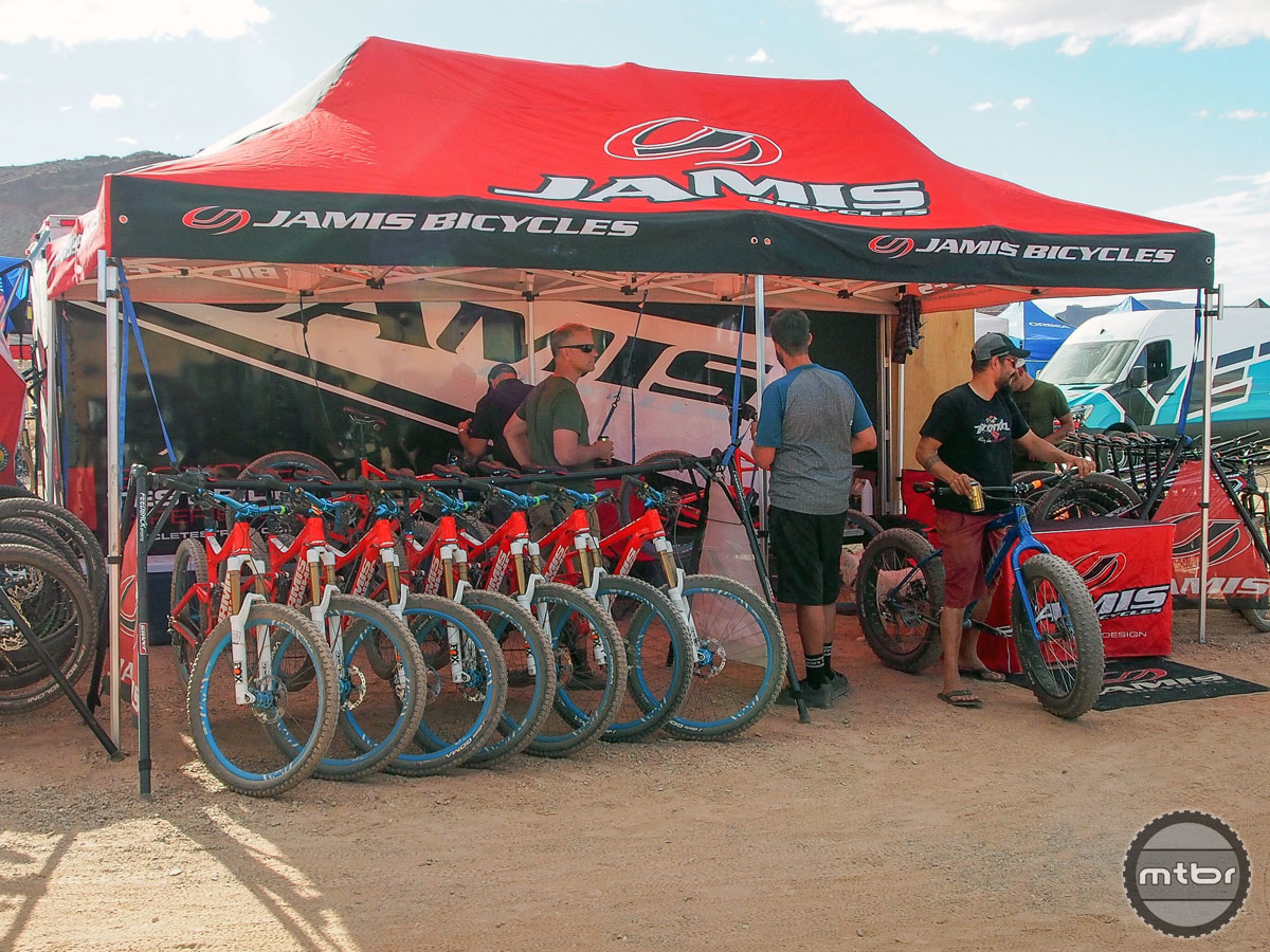 Jamis came to Utah with a fleet of new Defcons ready to take on Moab's menacing red rock kingdom.