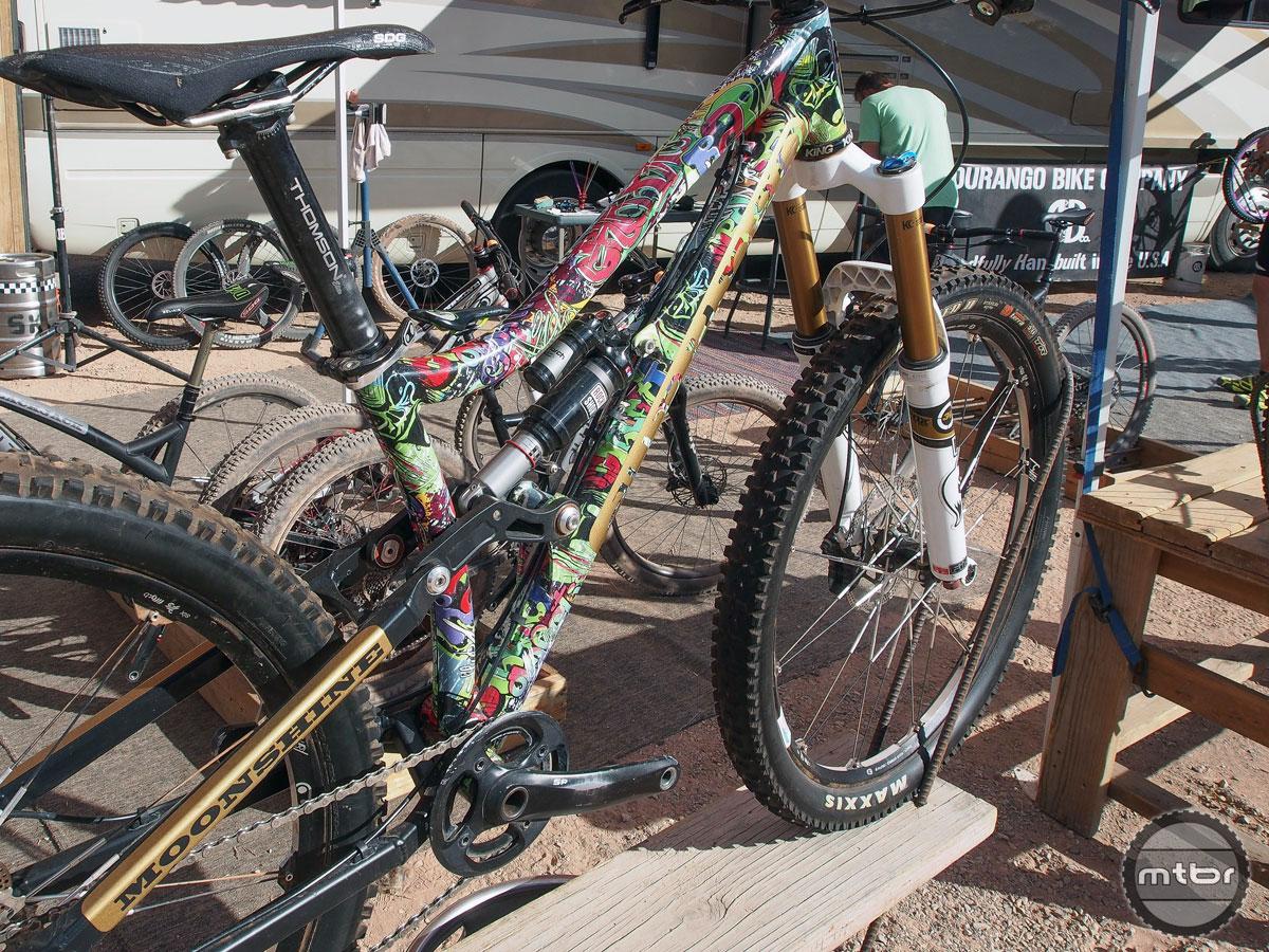 Most eye-catching bike award went to this Durango Bikes Moonshine.