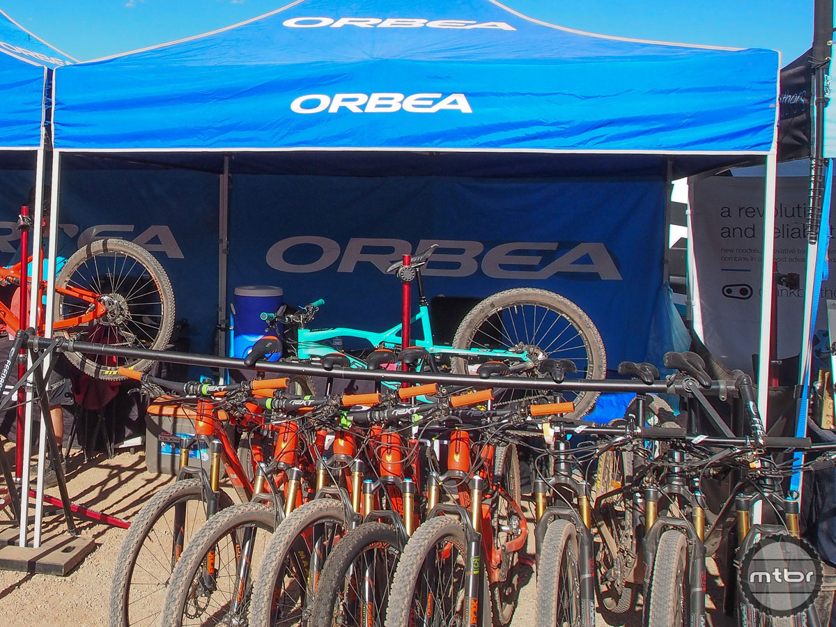Orbea may be based in Spain, but that didn't stop the mountain and road bike maker from showing up in Moab with a fleet of its new Occam trail bikes.