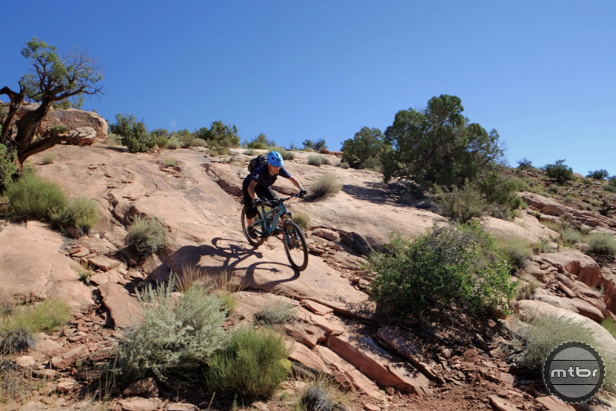 Outerbike gives riders a chance to check out next year' bikes in a premier mountain bike destination--Moab, Utah. Photo by Matt Woodley