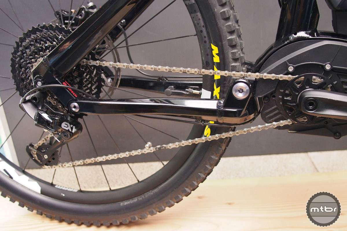 The EX1 is shown here with a Bosch drivetrain and small front ring.