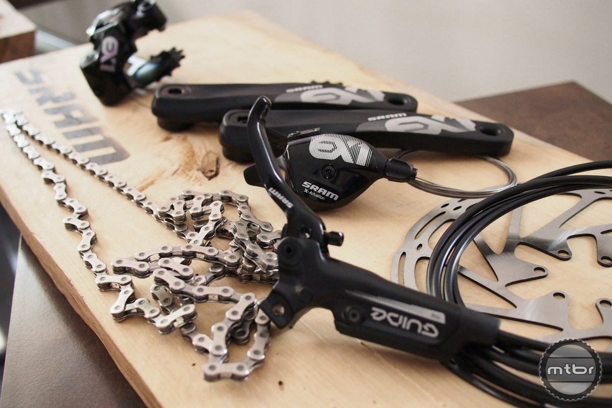The brakes are the most burly available in the SRAM arsenal.