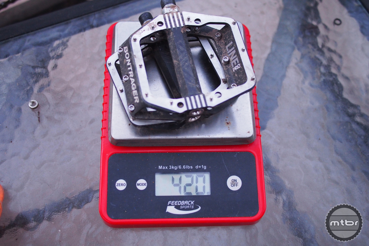 Bontrager Line Pro Pedals Weight
