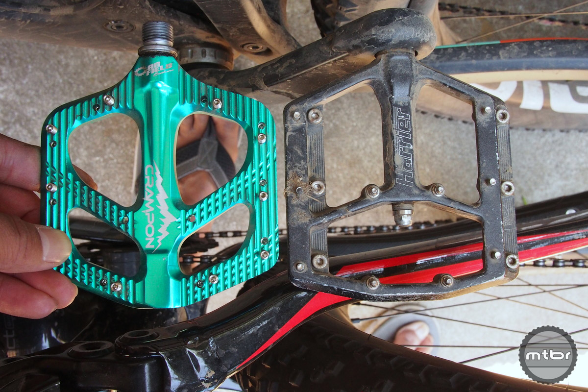 Canfield Crampon Mountain is showed here next to the huge VP Harrier pedals.