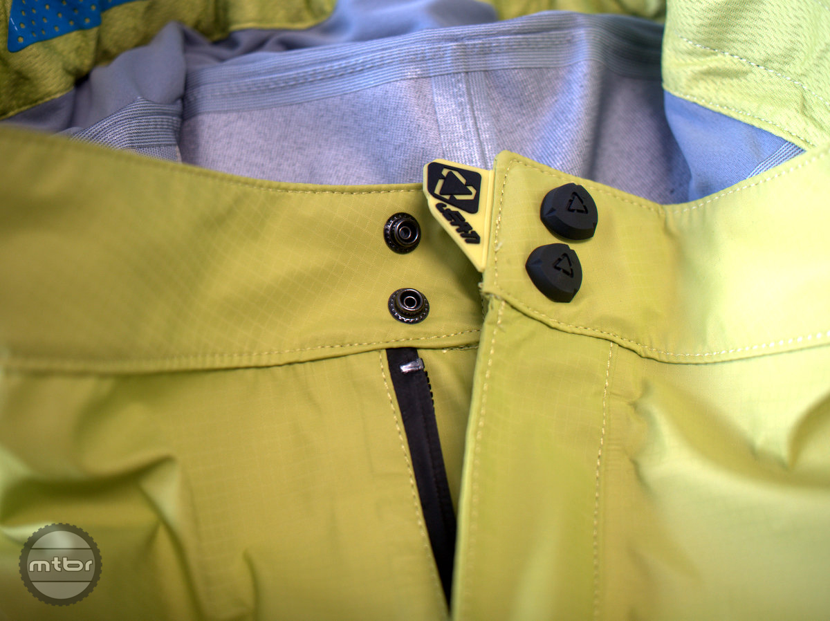 The shorts buttons are strong with a rubber grip tab. No need for the pesky Velcro that gets in the way of snapping the buttons in.