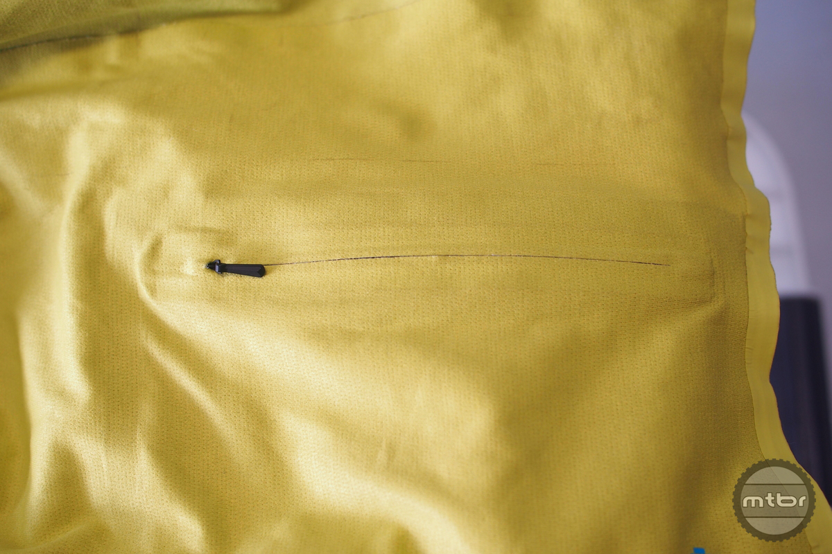 We didn't realize that our jersey had a pocket until we dug deep to find it behind the hidden zipper.