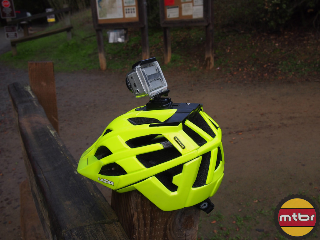 Lazer Oasiz helmet - flash yellow w/GoPro mount