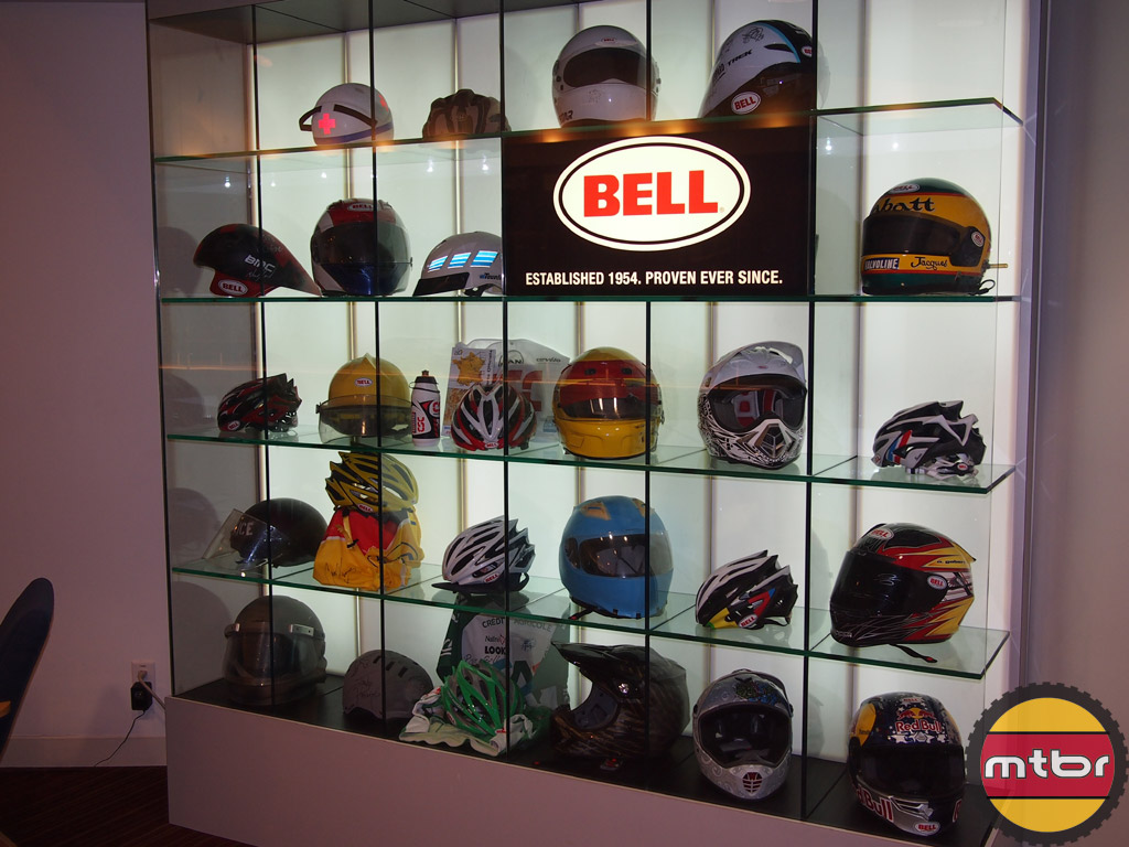 Bell helmets from cycling and motorsports