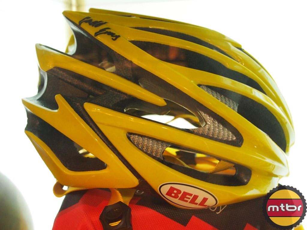 Cadel Evans autographed Bell Volt helmet