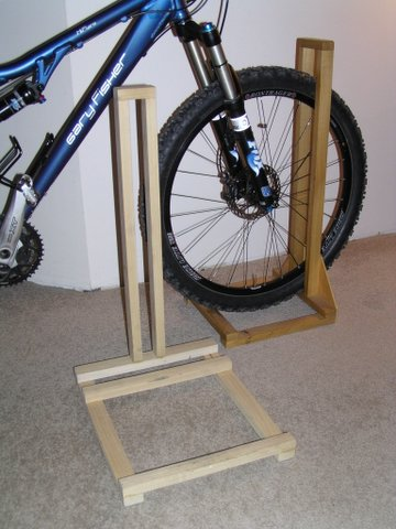 home made bike stands lets see them. Black Bedroom Furniture Sets. Home Design Ideas