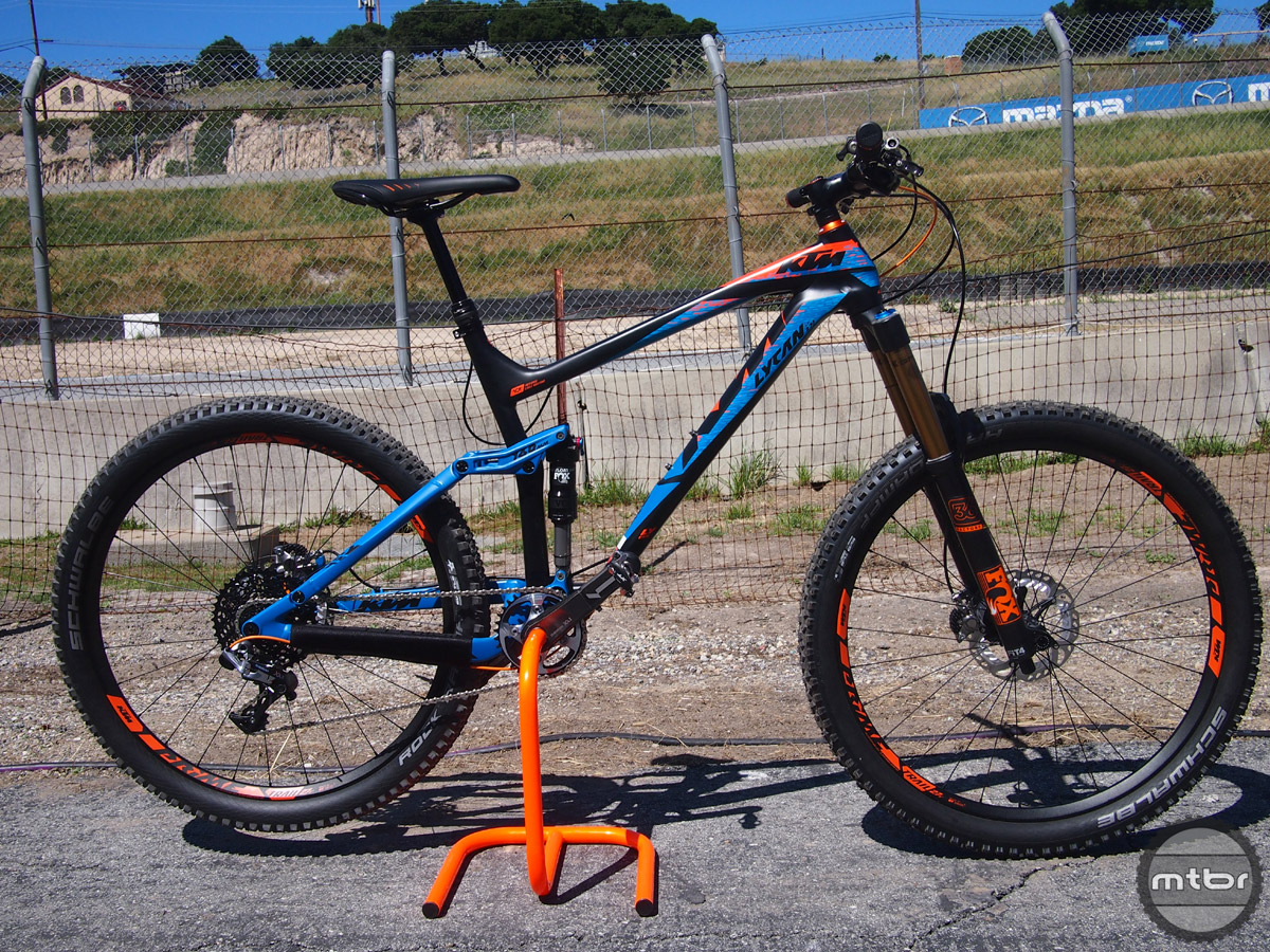 "The Lycan LT 271 is the long travel version (160mm) of KTM's popular Lycan model and rolls on 27.5"" wheels."
