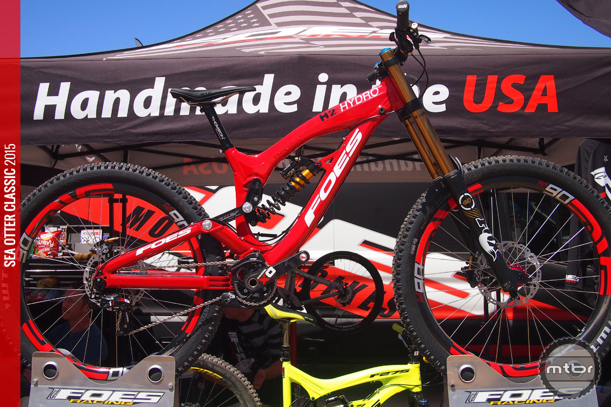 "The Foes Hydro H2 is a race ready DH rig now rolling on 27.5"" wheels and tires."