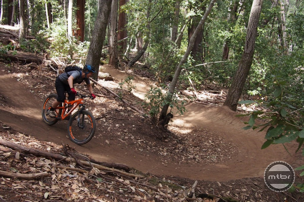 The Flow Trail features dozens of massive berms.