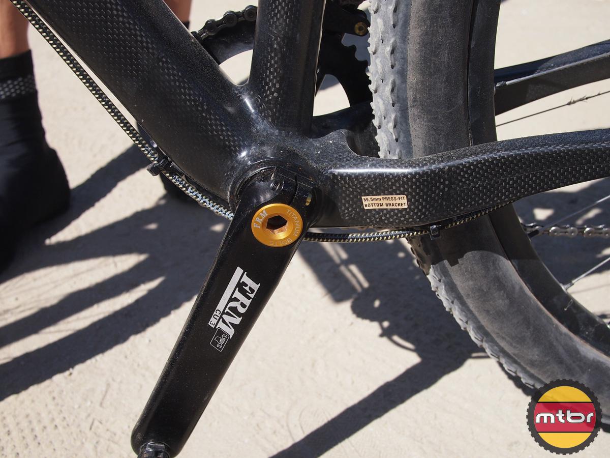 FRM carbon hardtail racer - cranks