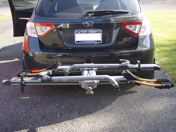 kuat access with tilted vehicle blog review bike news nv rack for away tilts