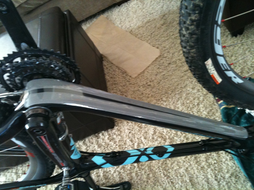 Protecting Your Carbon Frame And A Diy Downtube Protector Mtbr Com