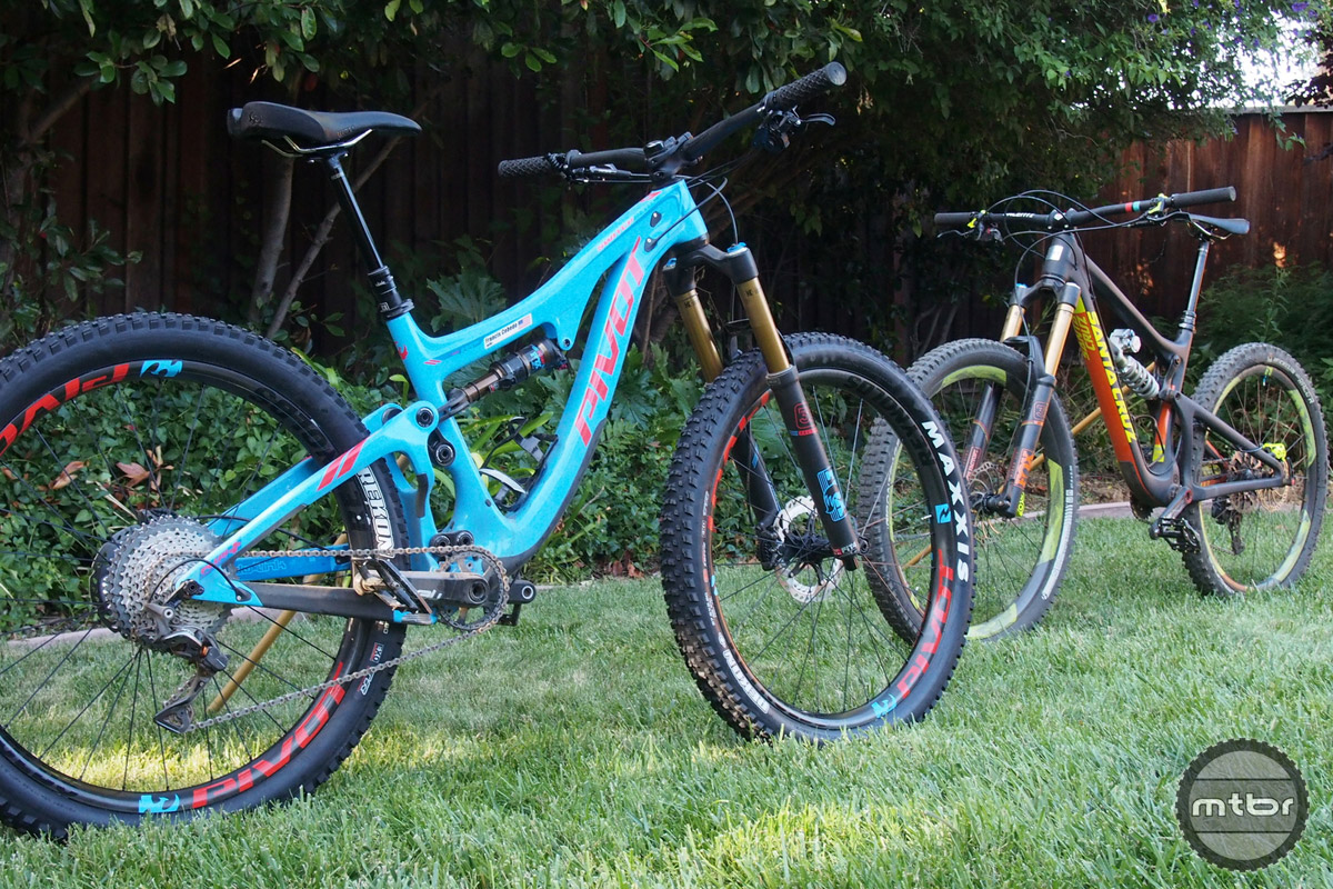 These two great bikes have the same wheelset.
