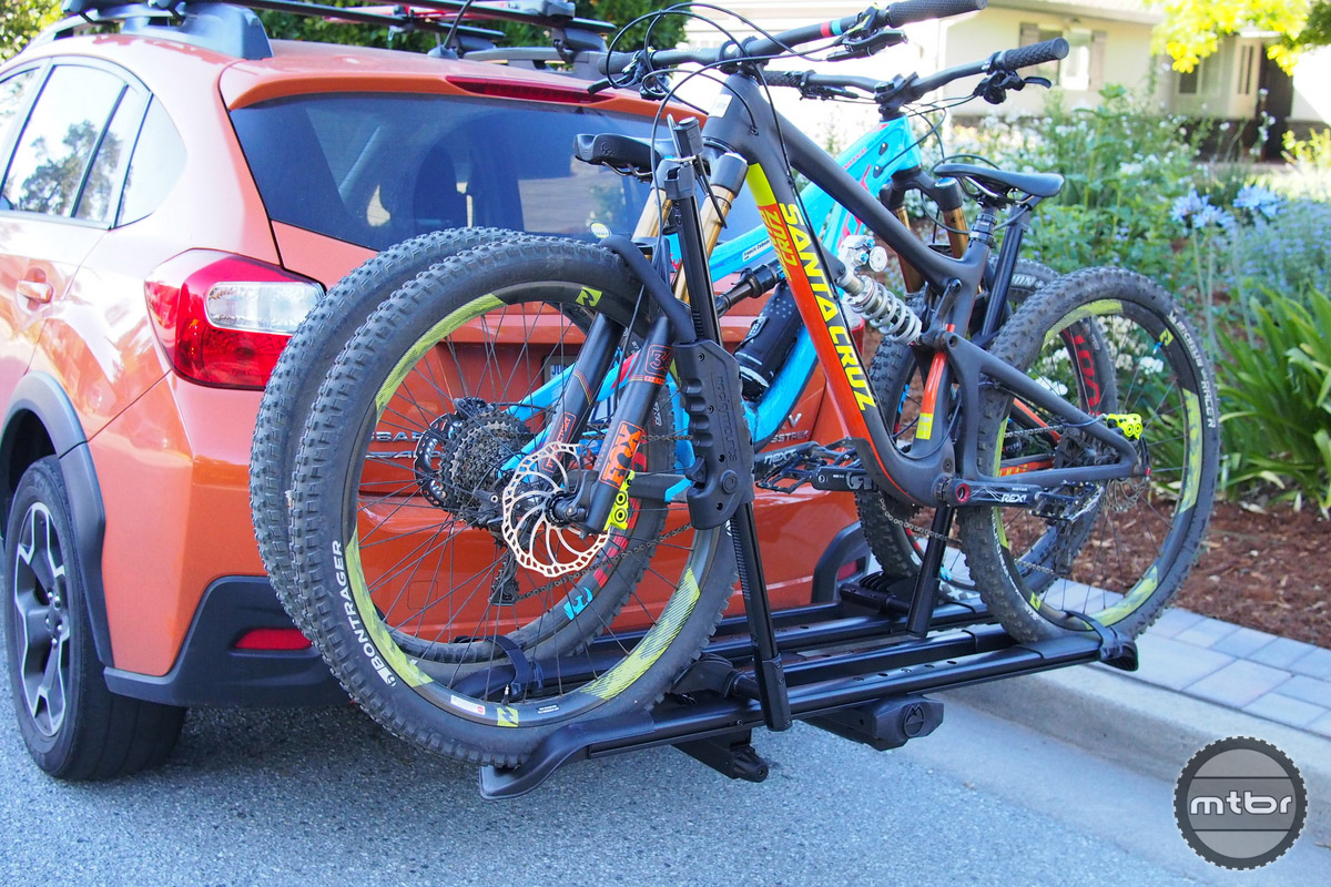 It is shown here with two 27.5 bikes mounted.