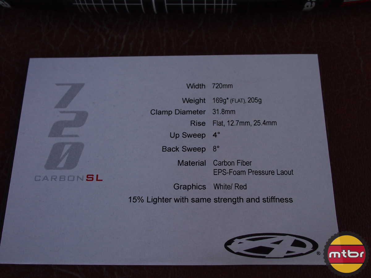 Answer 720 Carbon SL - specs