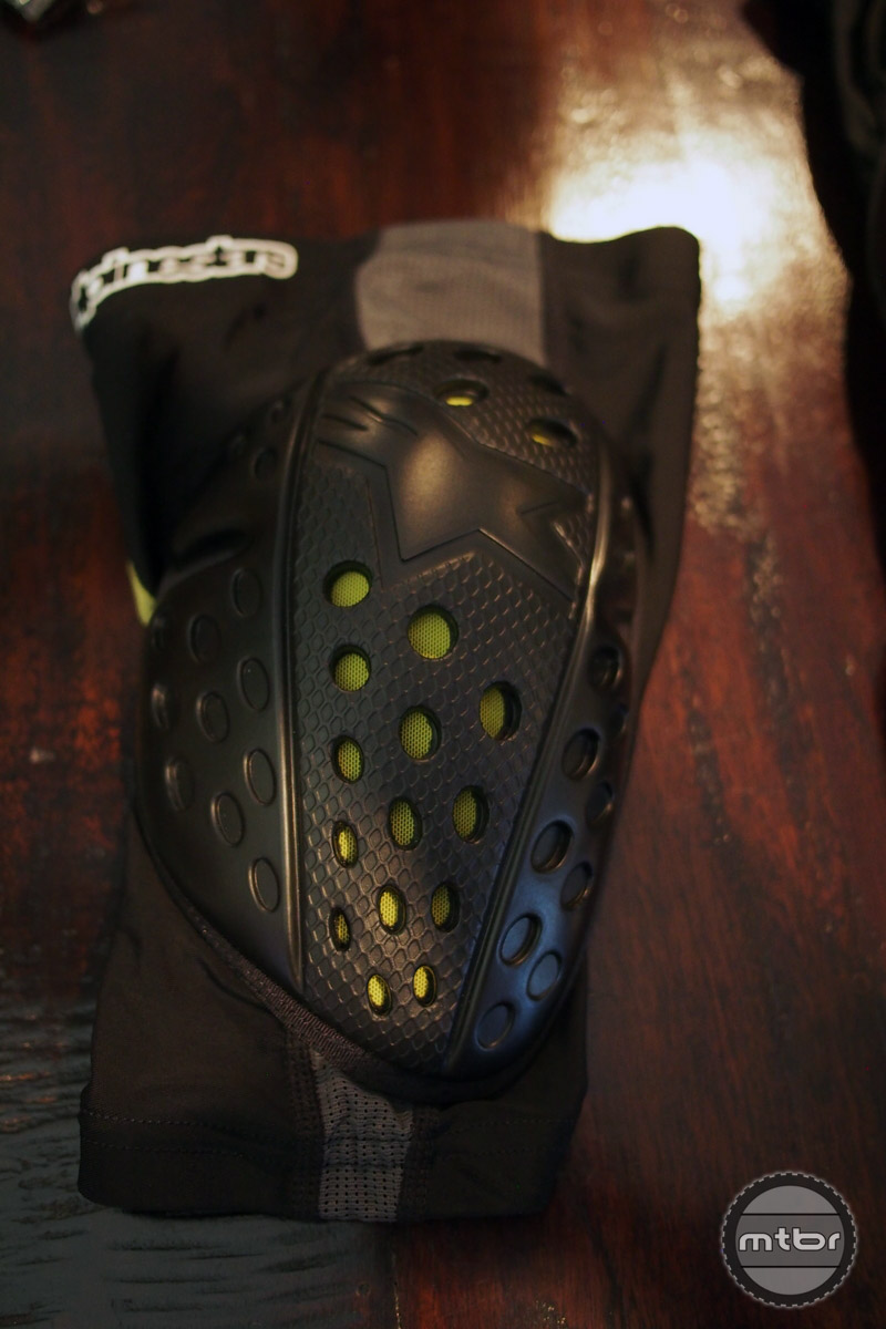 The new knee pad is strapless like the Paragon knee pad.
