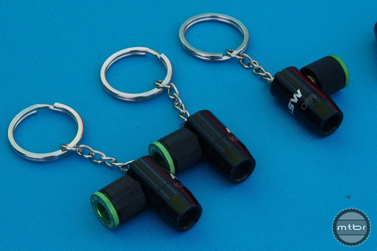 MSW's CO2 head is so compact, they even turned it into a keychain for a dealer event.