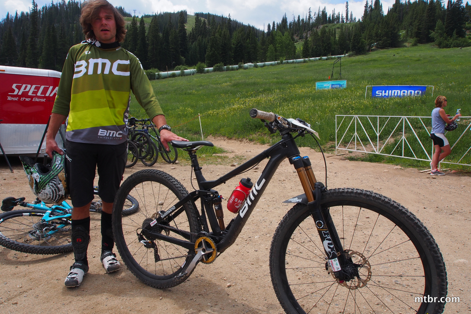 Aaron Bradford with BMC long travel 29er