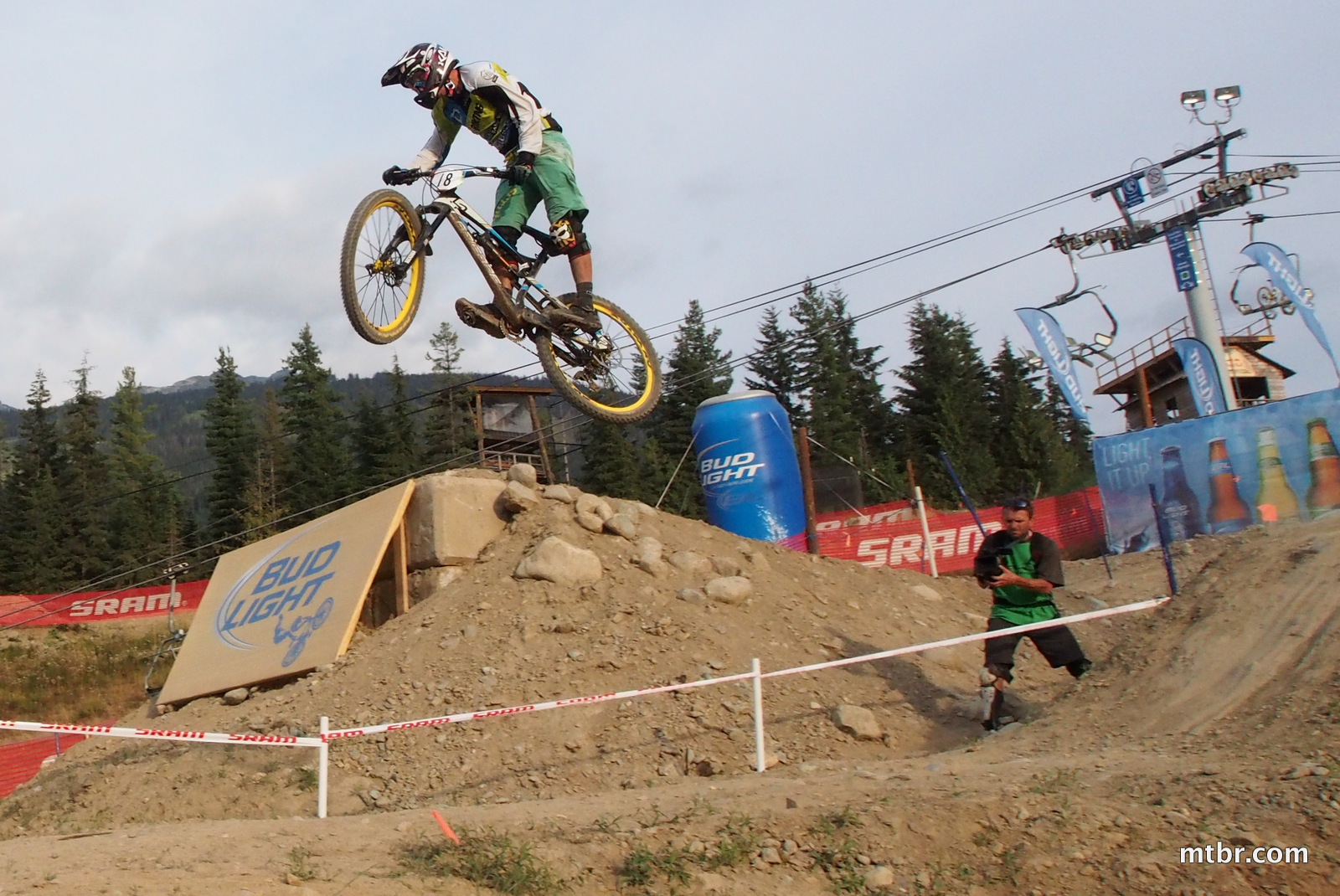 Jump in Enduro World Series Whistler