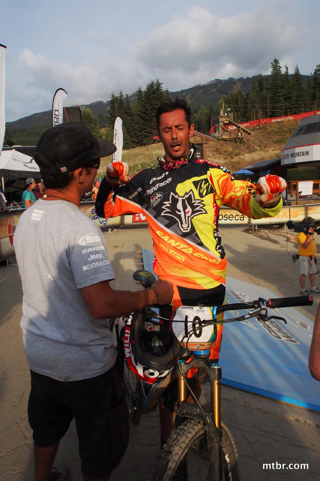 Cedric Gracia in Enduro World Series Whistler