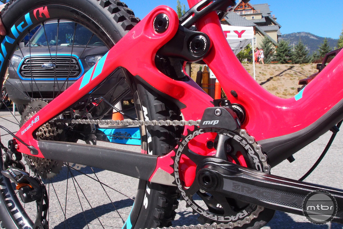 The rear triangle is the stiffest bike now in the Pivot arsenal.