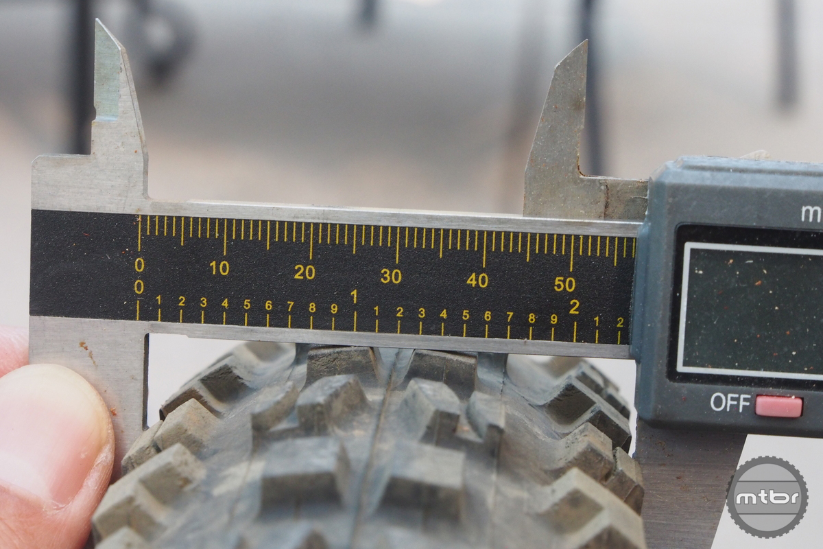 The Minion 29x2.3 measures 57mm at the widest casing width.