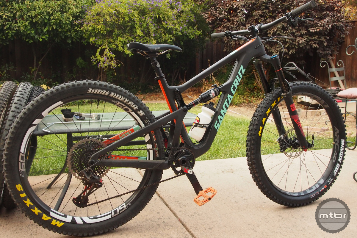 The Hightower is seen here with the Maxxis Highroller 2.8s