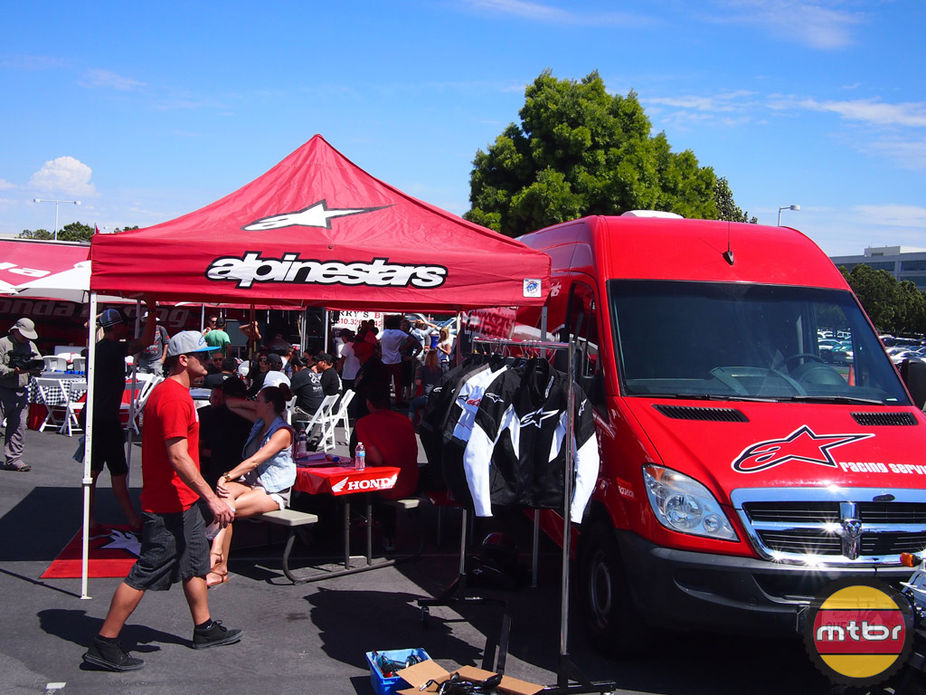Alpinestars was one of the event sponsors