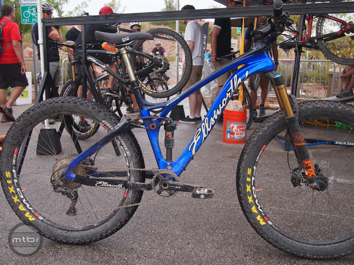 The new Plus bike from Ellsworth was a hot commodity at the Interbike Outdoor Demo.