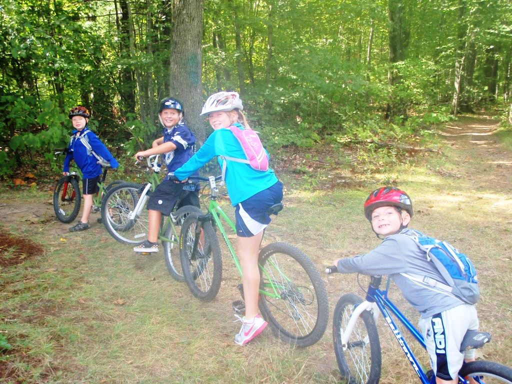 Kids group ride