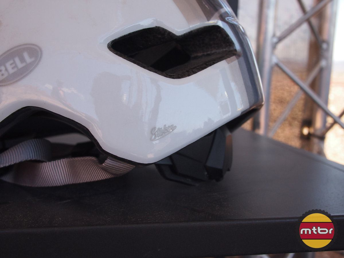 Bell Stoker helmet shown in white/silver haze