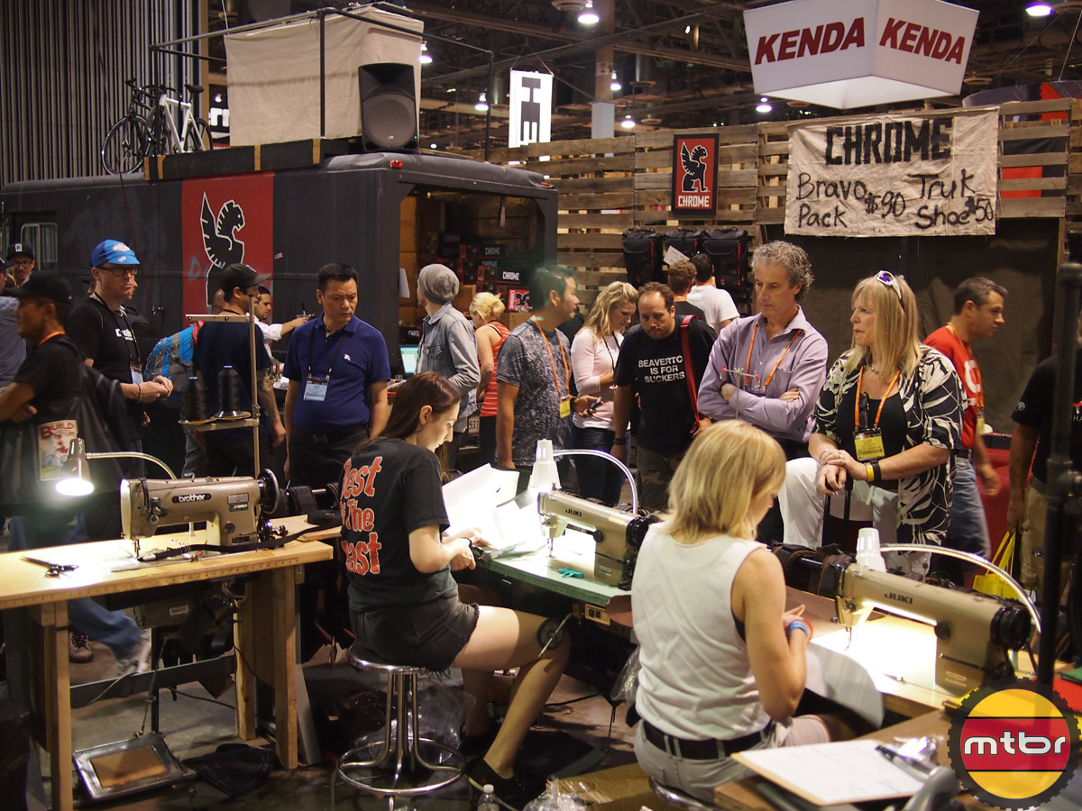 Chrome Interbike Booth